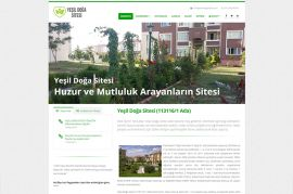 Yeşil Doğa Sitesi Web Sitesi - Aidat Yönetim Sistemi